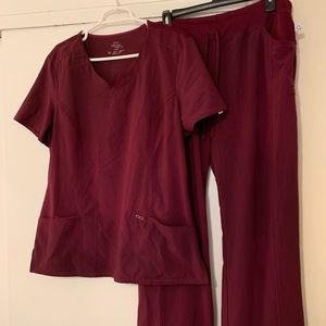 Cherokee infinity scrubs wine color